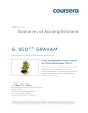 Grow to Greatness: Smart Growth for Private Businesses, Part II Certificate thumbnail
